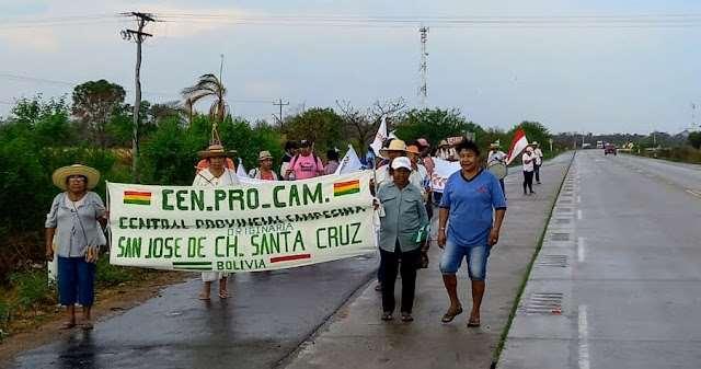 La marcha partió el lunes desde San José de Chiquitos. Foto: Limberg Cambará