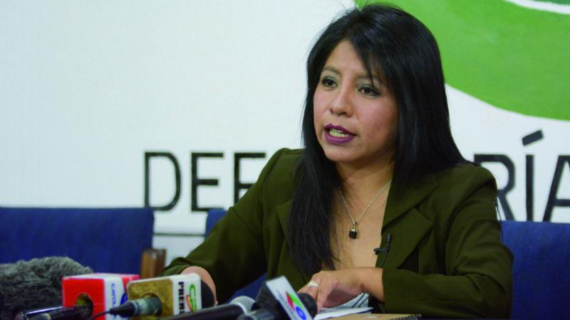 A falta de dos tercios, MAS alarga sin fecha interinato de Defensora