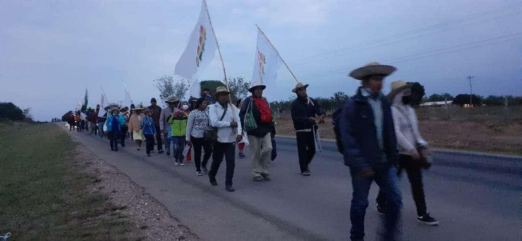 La marcha partió esta madrugada desde Momene y culminó en Yotaú.