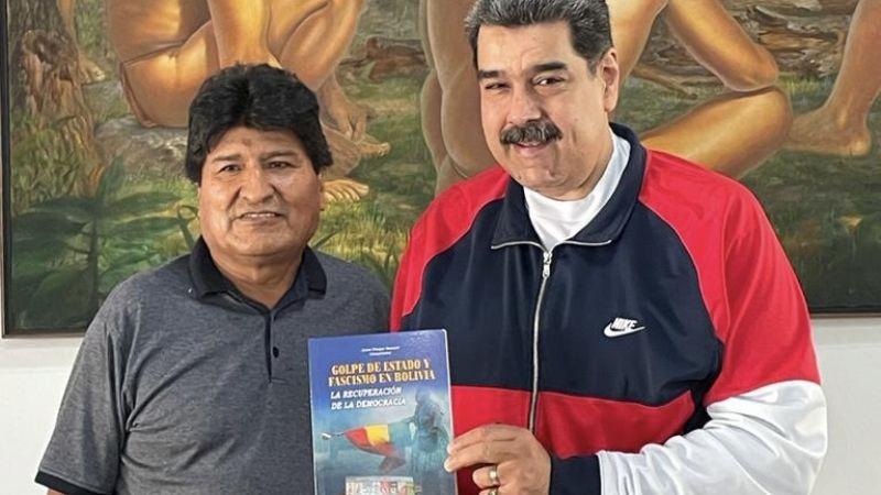 Evo recomienda a las nuevas generaciones seguir los pasos de Maduro
