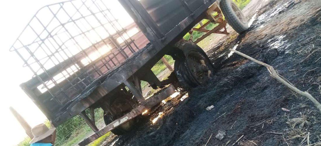 Las personas que fueron desalojadas quemaron el campamento de Yucra