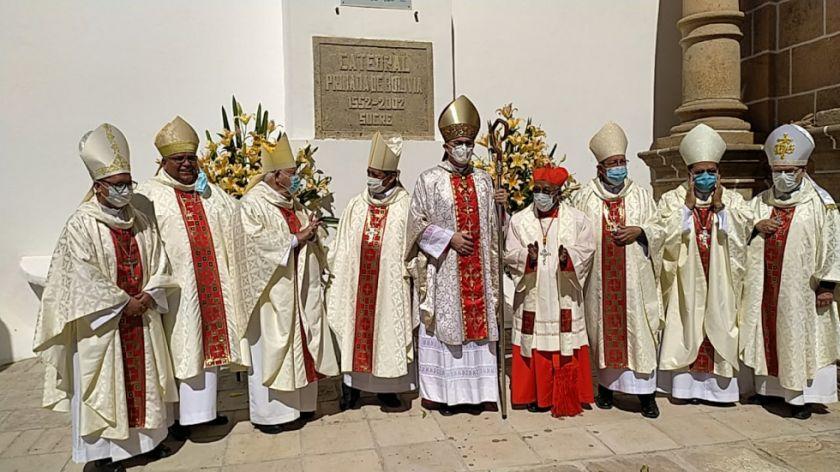 """La Iglesia de Sucre, declarada oficialmente """"primada de Bolivia"""""""