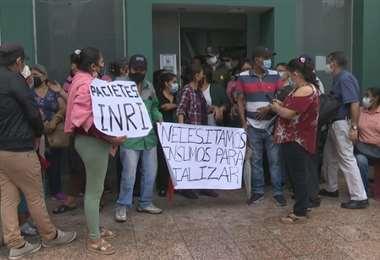 Protestas de pacientes renales - UNITEL