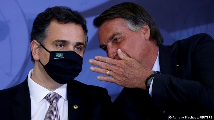 Brasilien Brasilia | Senatspräsident Rodrigo Pacheco und Präsident Jair Bolsonaro