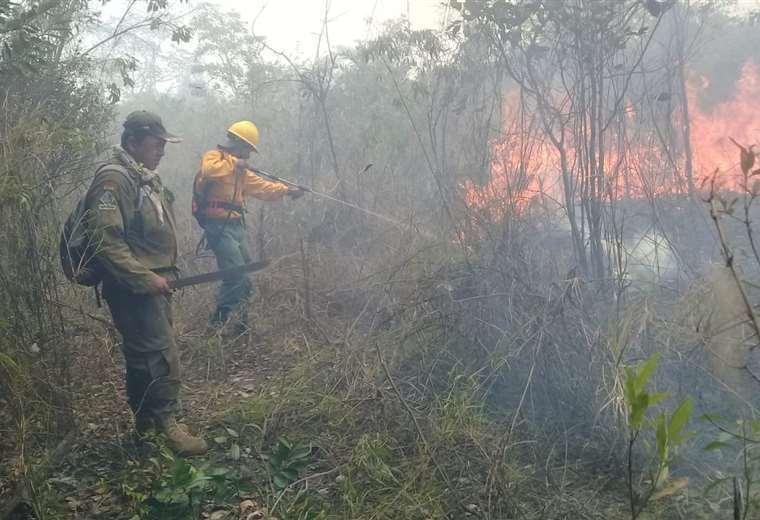 Son siete los municipios afectados por el fuego/Foto EL DEBER