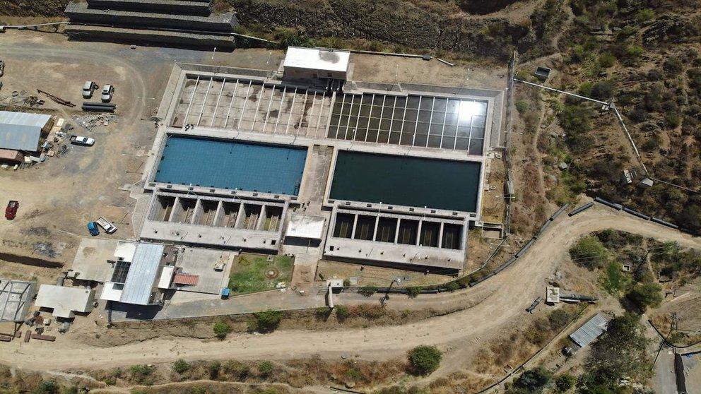 Planta de Tratamiento de Agua Potable en Jove Rancho. Foto: Empresa Misicuni.
