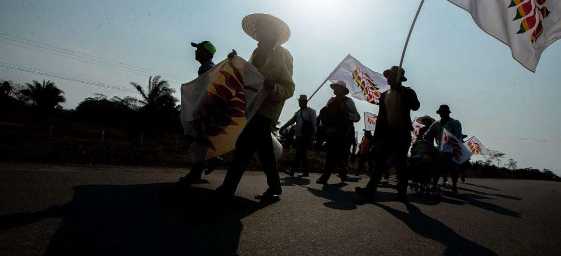 Jóvenes médicos de la organización Por un mundo mejor atendieron a los marchistas