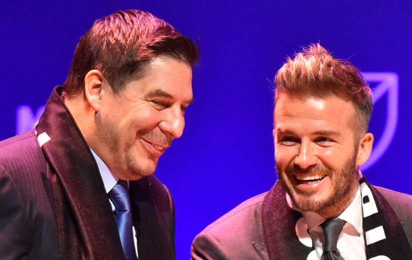 Claure (izq.) y Beckham fundaron Inter de Miami (imagen referencial/internet)