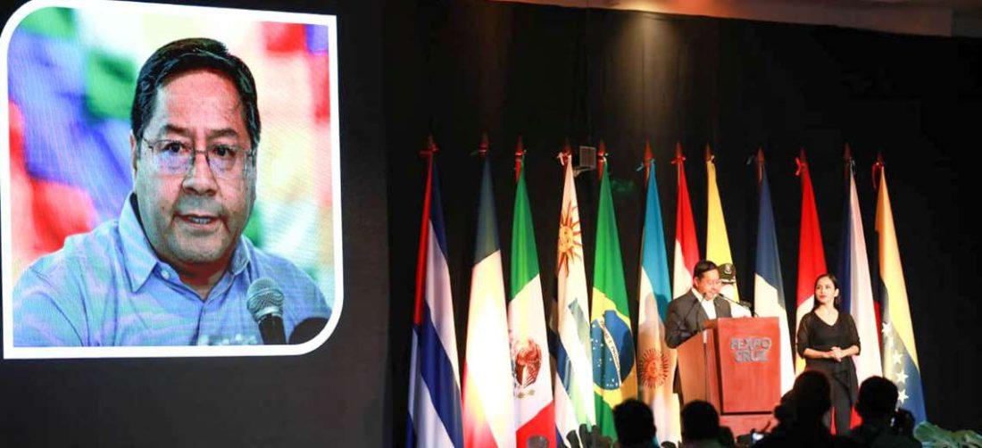 El presidente Luis Arce I Twitter.