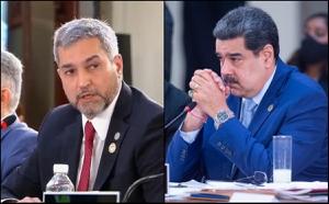 Presidente de Paraguay, Mario Adbo Benítez, y Nicolás Maduro.