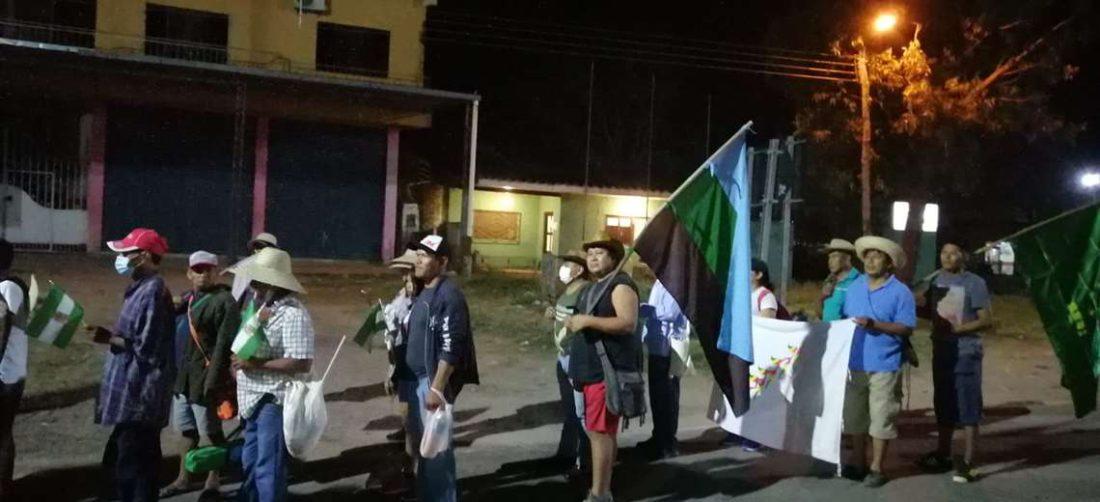 Marcha indígena ya se encuentra en la comunidad de La Asunta en San Julián