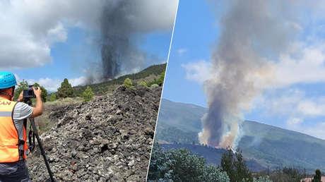 VIDEOS, FOTOS: Entra en erupción un volcán en la isla española de La Palma