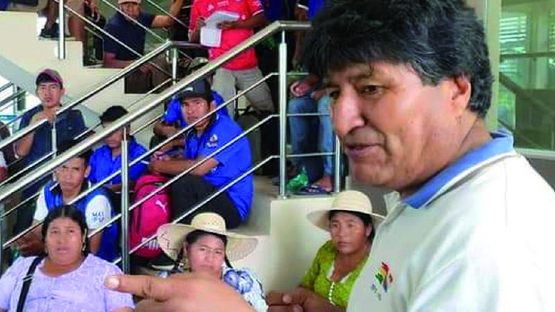 Morales recibe desde enero una renta mensual de 21.640 bolivianos