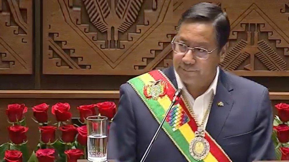 Luis Arce, presidente de Bolivia. Foto: Captura Btv