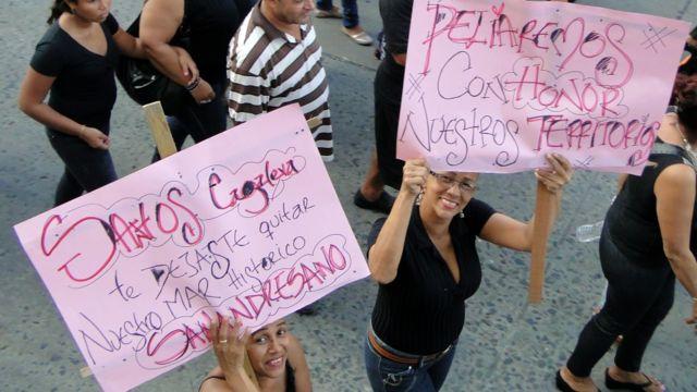 Protestas en San Andres