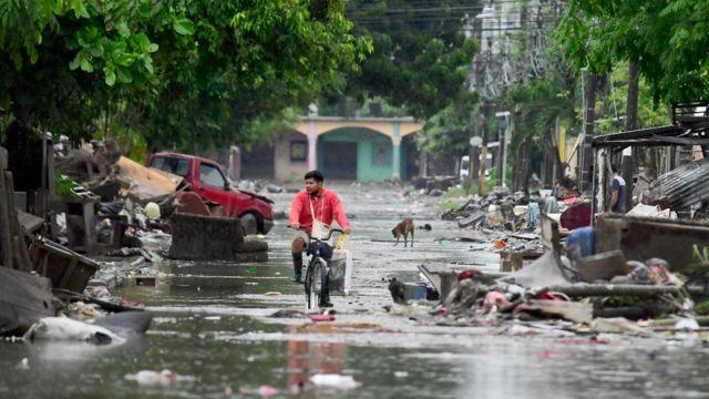 huracán Iota en 2020.