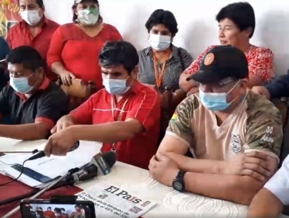 Cívicos del Chaco confirman bloqueo para el día jueves en la ruta a Tarija y Santa Cruz