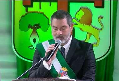 El presidente de la ALD, Zvonko Matkovic, en su discurso de la sesión de honor