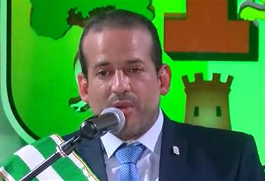 El gobernador de Santa Cruz, Luis Fernando Camacho