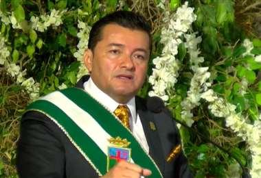 El alcalde de Santa Cruz, Jhonny Fernández