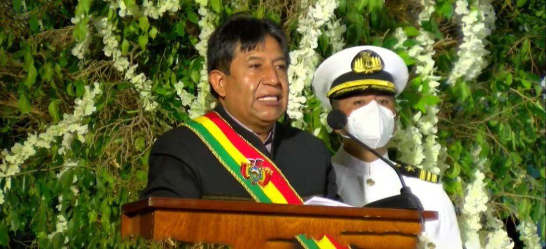 David Choquehuanca brindó su discurso en la Sesión de Honor del Concejo