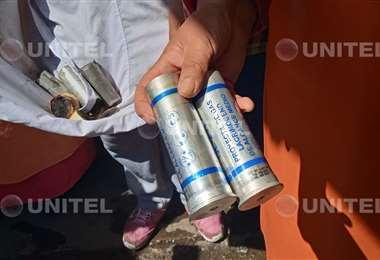 Los comerciantes mostraron algunos de los gases utilizados en los enfrentamientos