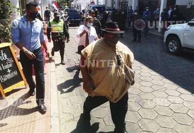 El dirigente señala que formalizará su denuncia en la Policía