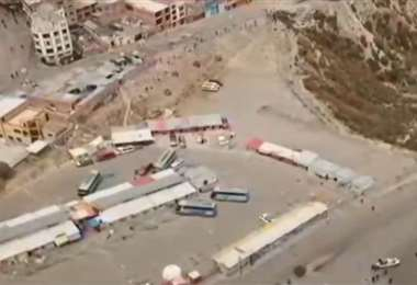 Imágenes aéreas del conflicto cocalero