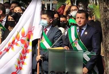 El alcalde cruceño pidió respeto a los actos cívicos