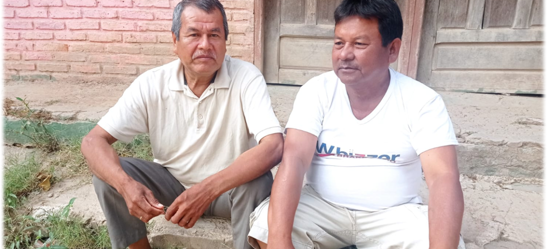 Ovidio Teco y Emilio Noza estuvieron en la represión de Chaparina. Foto. Huber Vaca