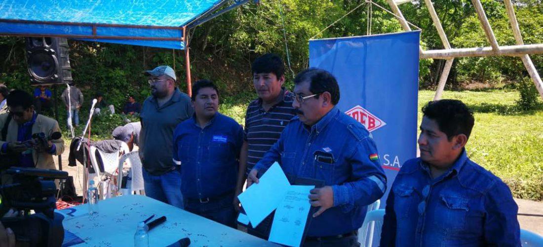 En el pasado, representantes del Distrito 11 y ejecutivos de YPFB Chaco firmaron un trato