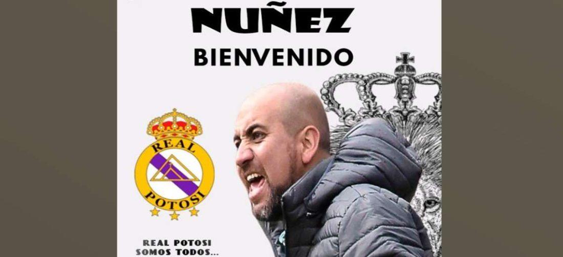 La imagen que publicó Real Potosí para anunciar la contratación de Núñez