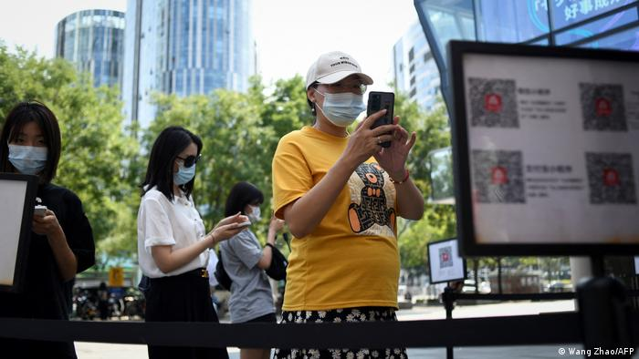 China Coronavirus l Zutritt via QR Code - Sicherheitsmaßnahme