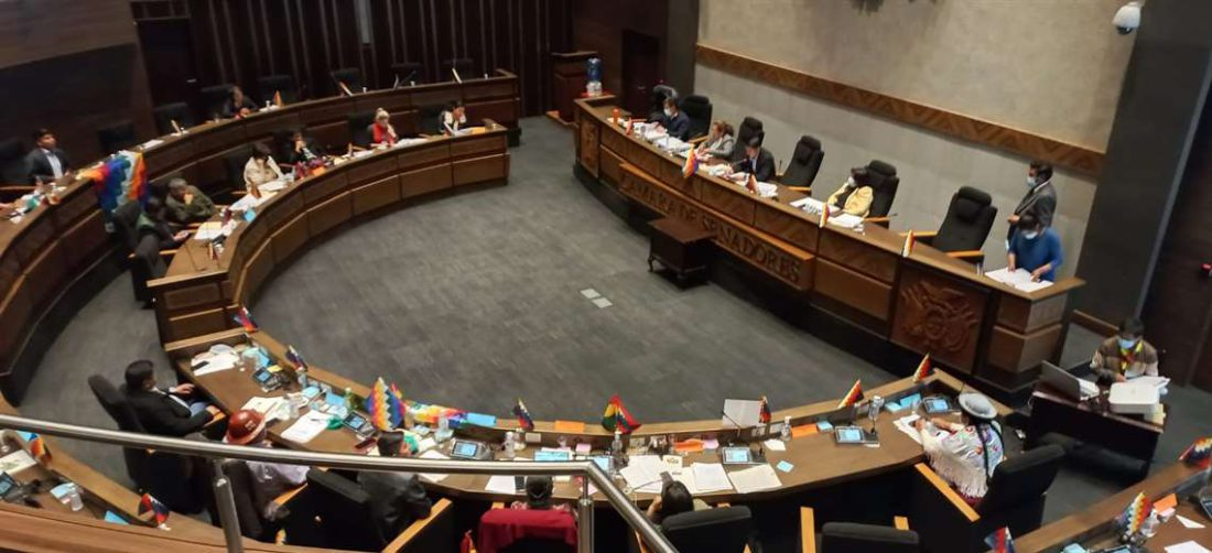 La sesión del Senado donde se debate el proyecto de ley