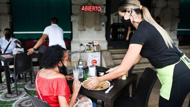 Restaurante en Cuba.