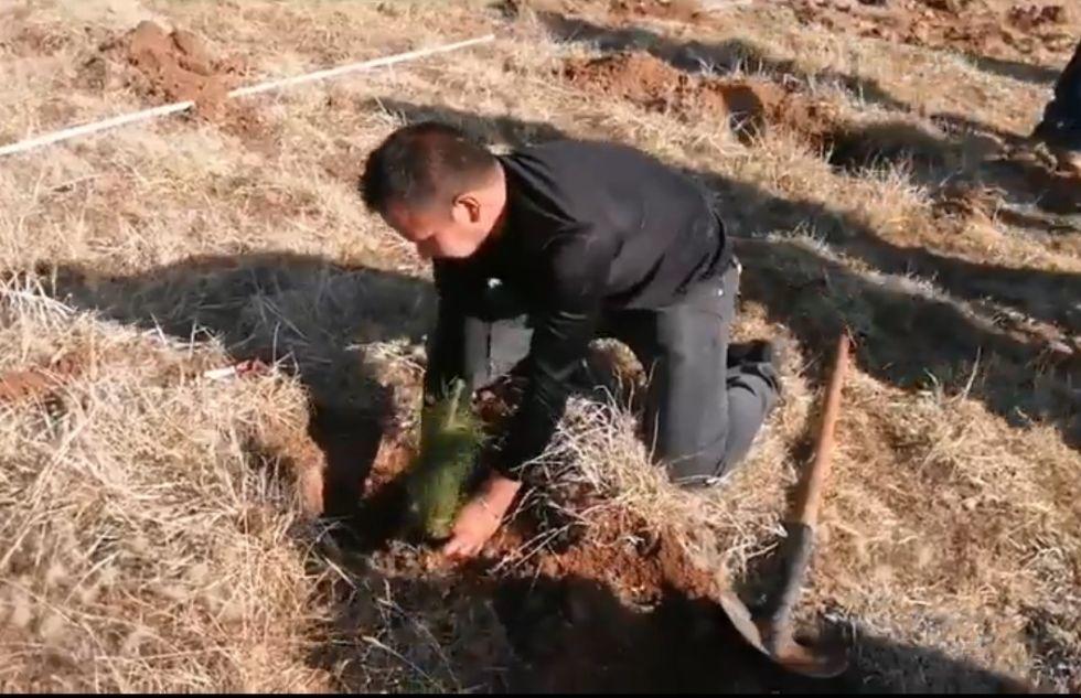 El inicio de la campaña departamental de forestación en Alcantarí.