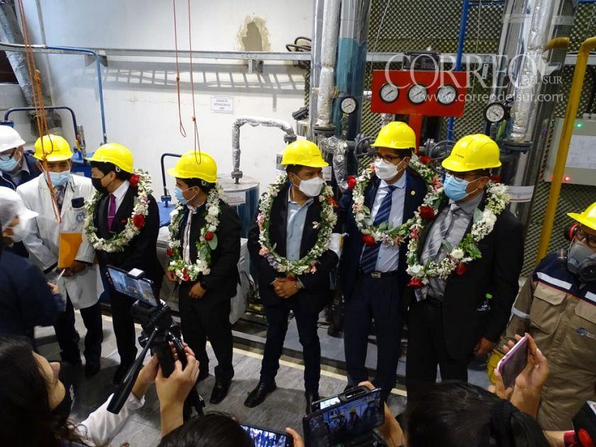 Inauguran la planta de oxígeno del hospital Santa Bárbara