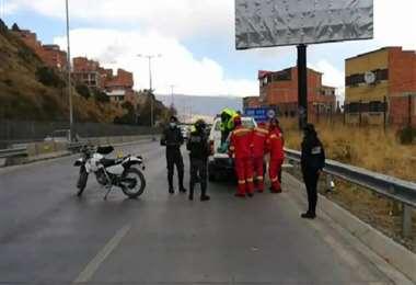 Accidente de tránsito en la autopista La Paz-El Alto
