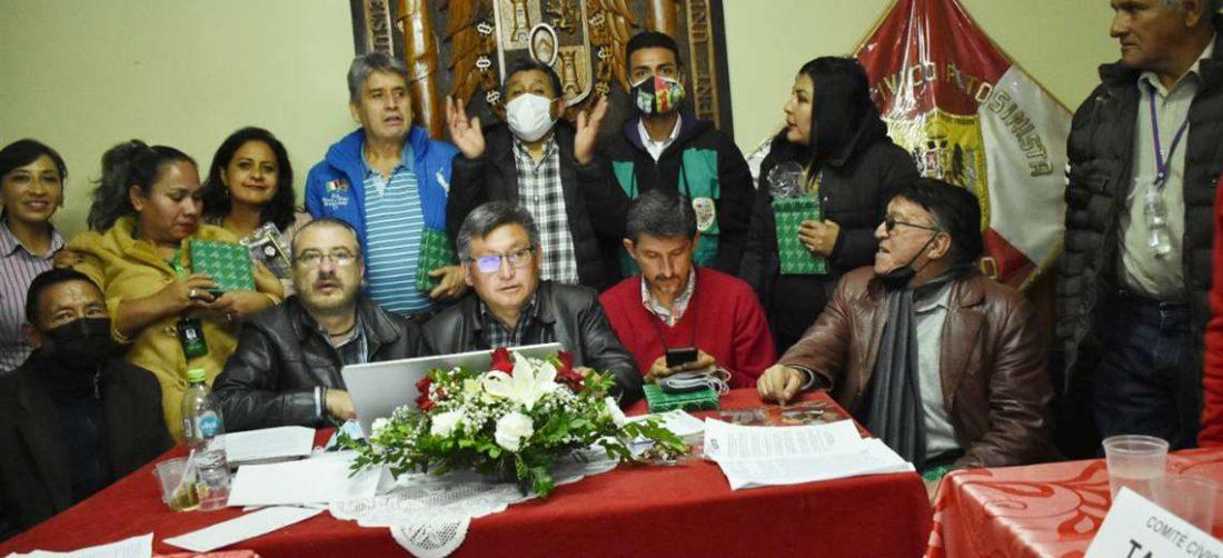 Los dirigentes cívicos se reunieron en Potosí y empezaron los anuncios (Foto: APG Noticias