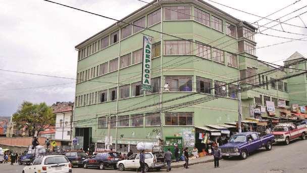 Instalaciones de Adepcoca en La Paz