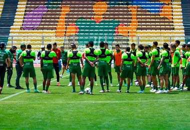 La selección debe jugar el jueves contra Ecuador. Foto: FBF