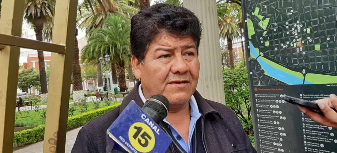 Wilfredo Castro, de la Confederación Sindical de Trabajadores Gremiales de Bolivia