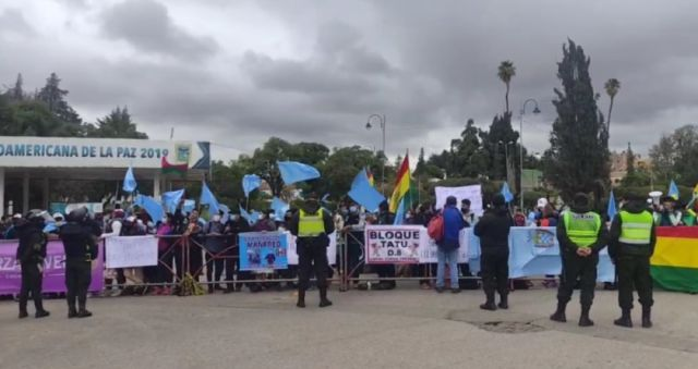 Protestas en puertas del TDJ a la espera de la audiencia de Manfred
