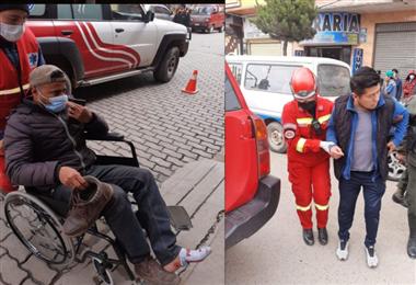 Las dos personas fueron auxiliadas y llevadas al hospital Agramont
