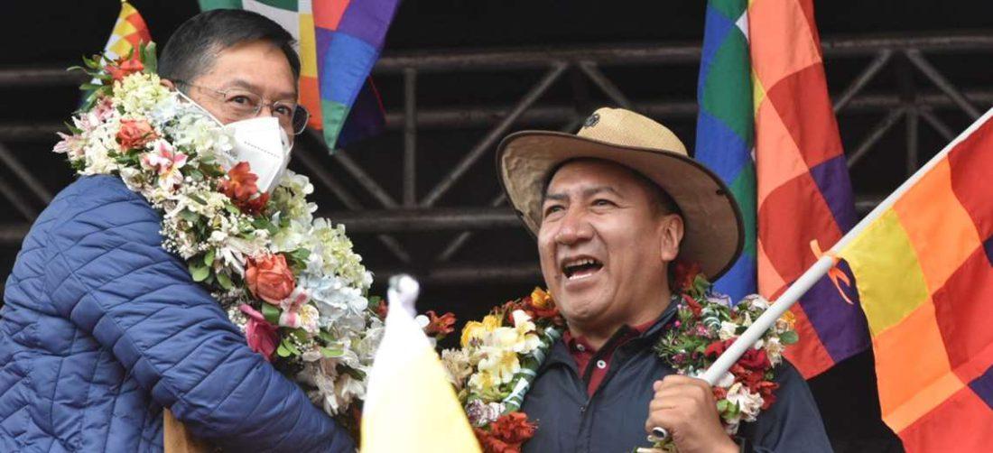 El Presidente de Diputados, sin barbijo, saluda al Jefe de Estado (Foto:APG Noticias)