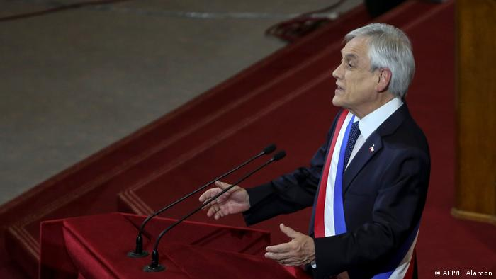 Chile Präsident Sebastián Piñera im Kongress