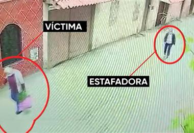 Las dos mujeres fueron captadas por cámaras de seguridad (UNITEL)
