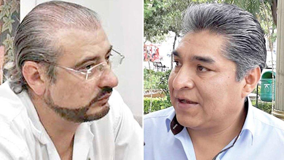 El líder cívico Rómulo Calvo y el asambleísta del MAS José Yucra. ARCHIVO