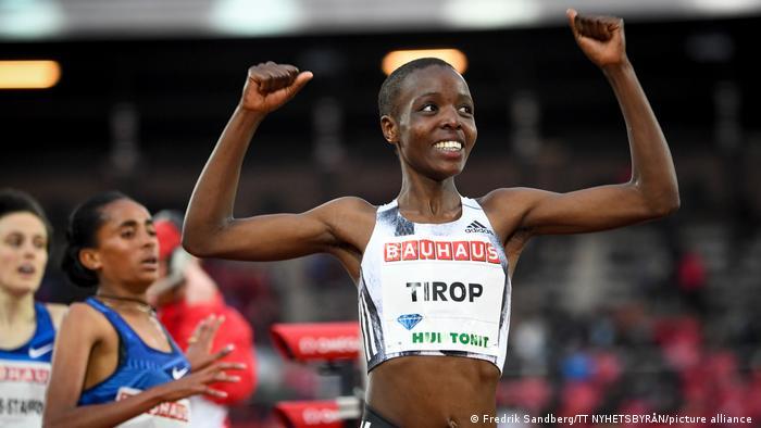 La atleta Agnes Tirop.